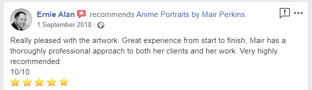Anime portrait customer review
